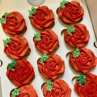 Dozen Rose cupcakes
