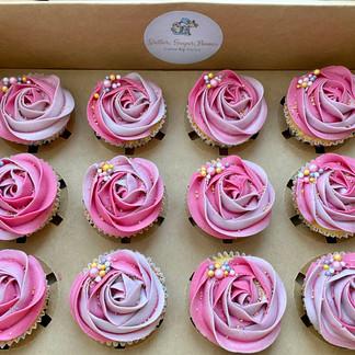 Elegant Pink Cupcakes.