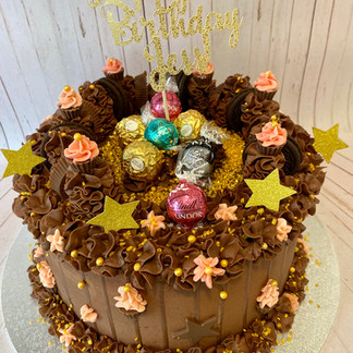 Pink Custom Candy Cake