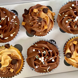 Decadent Chocolate & Caramel Chocolate Chip Cupcakes