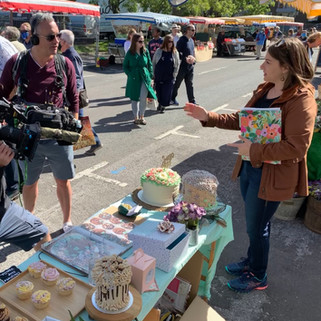 The BBC Filming Butter, Sugar, Flower