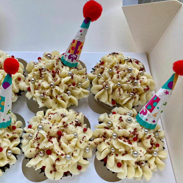 Birthday Red Velvet Cupcakes