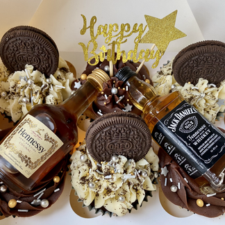Boozy Cupcakes - you must provide the bottles