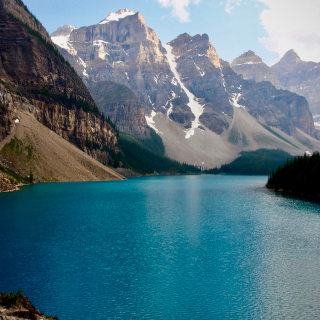 Elevated View of Moraine Lake