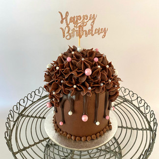 "4"" Chocolate Floral Cake"