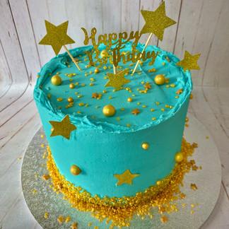 Blue Celebration Cake
