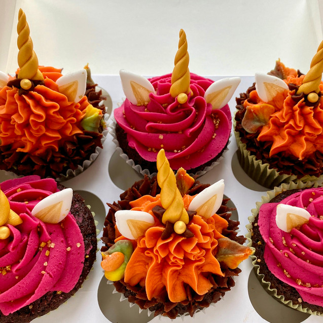 Fall Unicorn Cupcakes