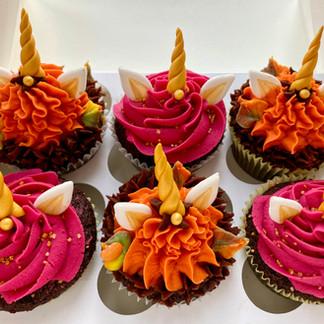 Fall Unicorn Cupcakes