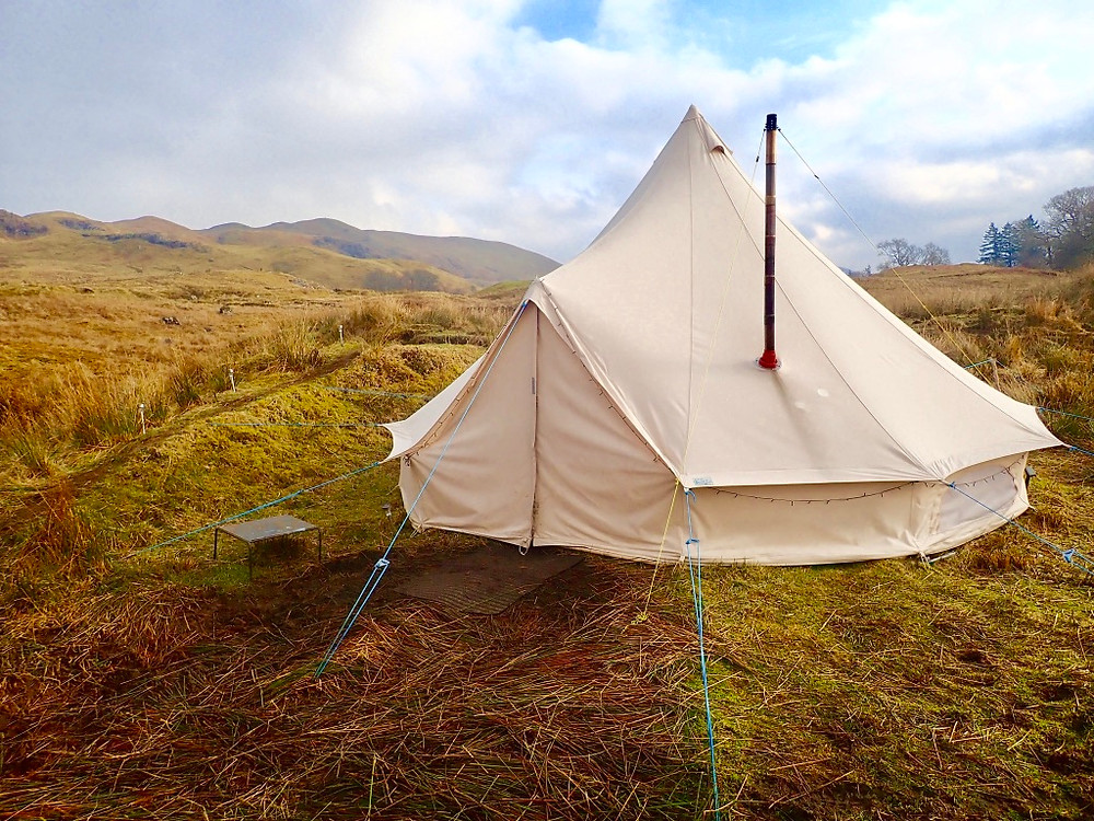 bell tent in the Cairngorms