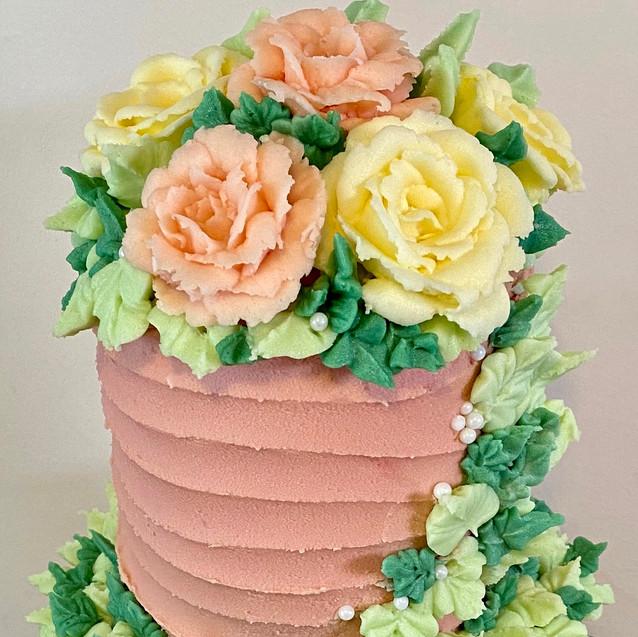 Butter, Sugar, Flower Floral Cake
