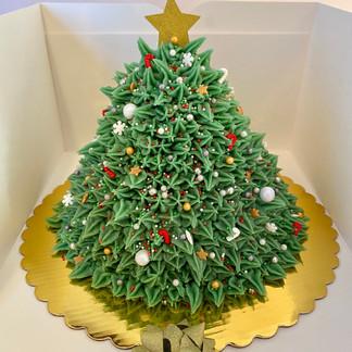 Christmas Tree Cake Boxed