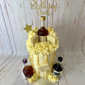 Boozy Custard Cream Cake (you must provide liquor bottles)