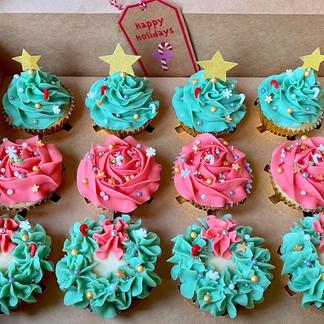 Dozen Christmas Cupcake Gift Box