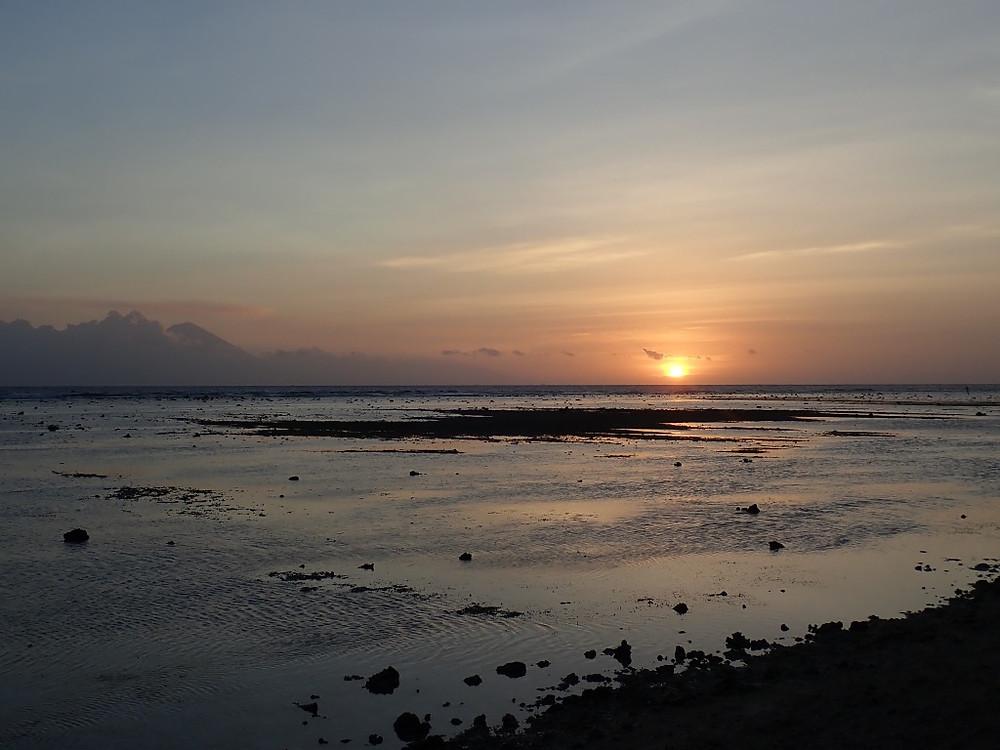 sunset, Gili Trawangan, Indonesia