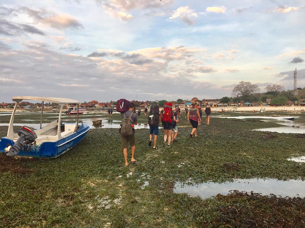 ferry landing in Nusa Lembongan