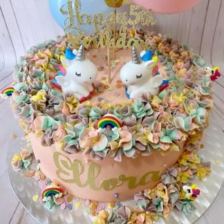"10"" 2 Unicorns Cake"