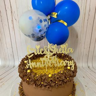 Salted Caramel Anniversary Cake