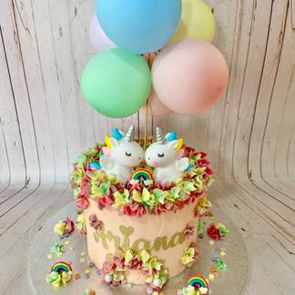 Unicorn And Balloons Cake