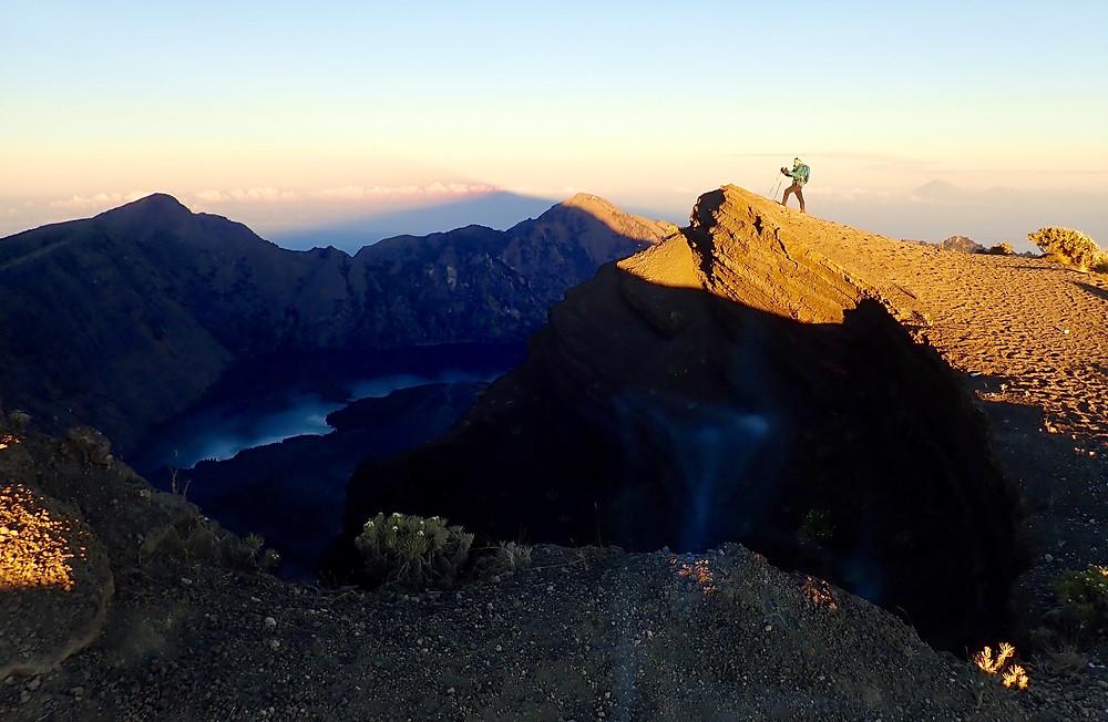 Sarina Seeks Trekking on Gunung Rinjani, Indonesia
