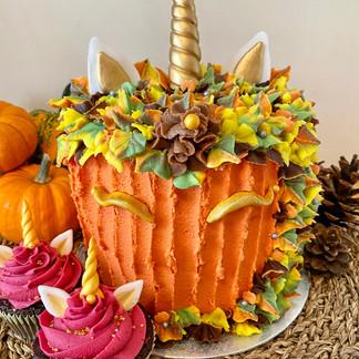 Pumpkin Unicorn Cake