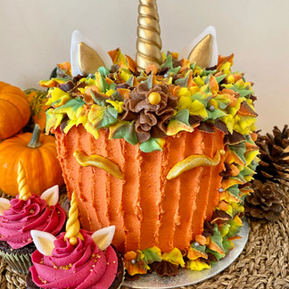 Pumpkin Unicorn Cake