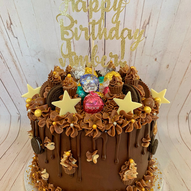 Custom Chocolate Candy Cake
