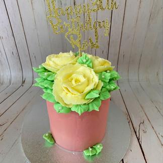 """4"""" Rose Cake"""