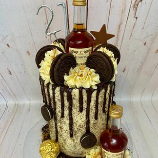 Hennessy Oreo Cake - you must provide the bottles