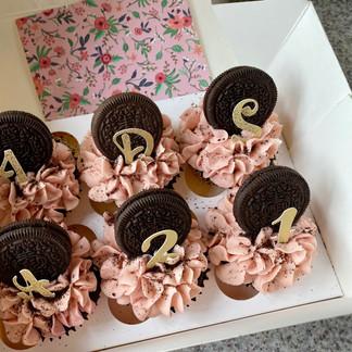 Pink Oreo Cupcakes