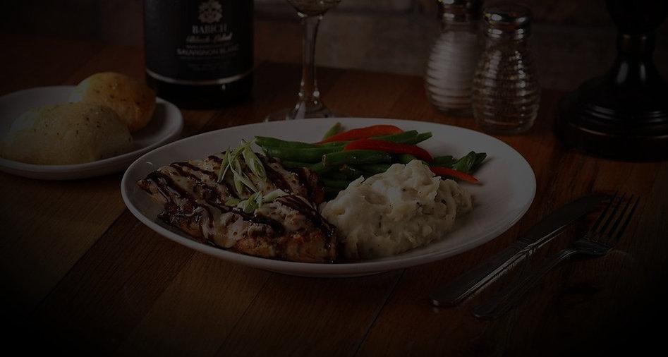Gluten-free balsamic chicken meal