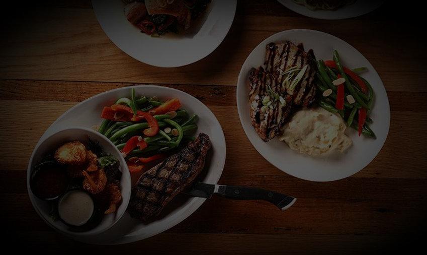 New York Strip steak dinner and balsamic chicken dinner from S&P