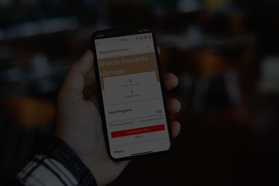 S&P phone app showing rewards points dashboard