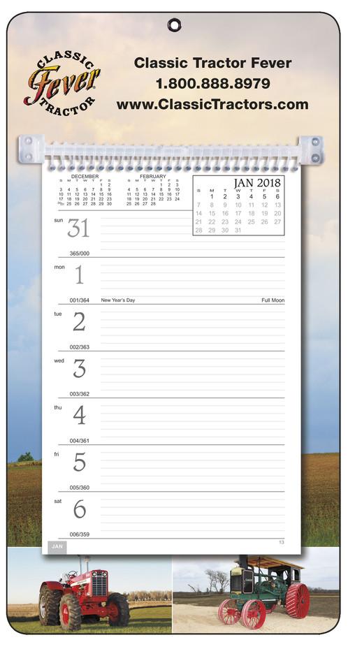 NEW - 2018 CLASSIC FARM TRACTORS weekly memo calendar | Classic ...