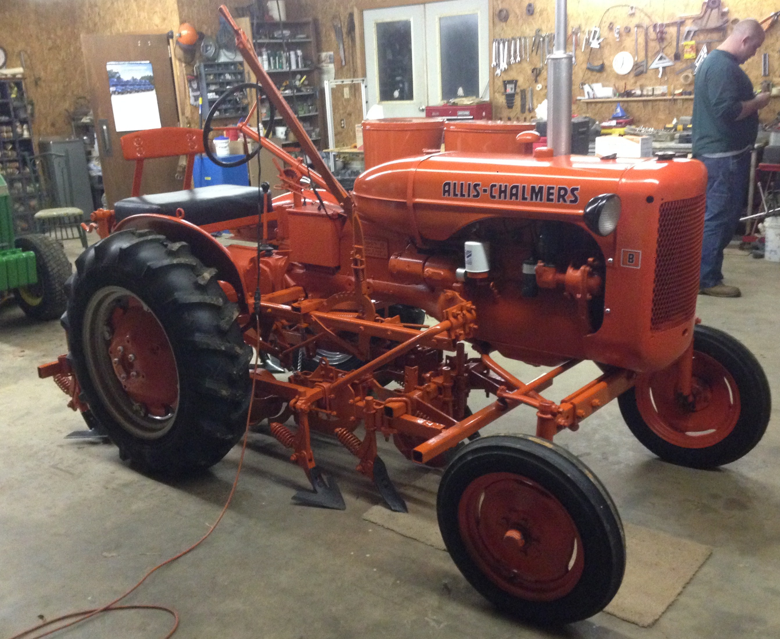1953 Allis Chalmers B With 60 Series Cultivators And Planter Hoppers Engine Diagram Classic Tractor Fever Home Antique Farm Garden Tractors