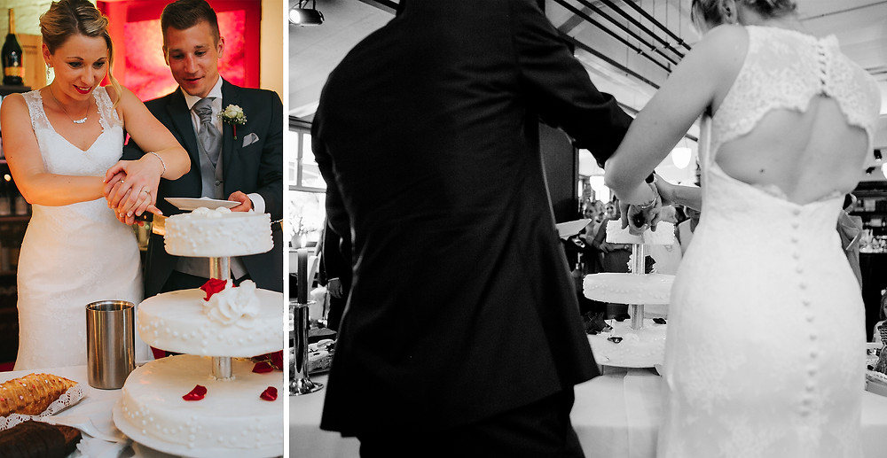 Anschnitt Hochzeitstorte Nürnberg