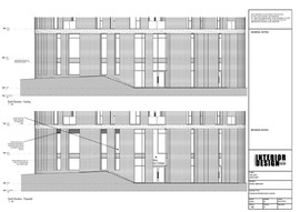 Existing and Proposed South Elevation