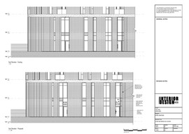 Existing and Proposed East Elevation
