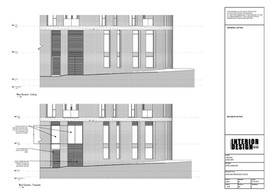 Existing and Proposed West Elevation