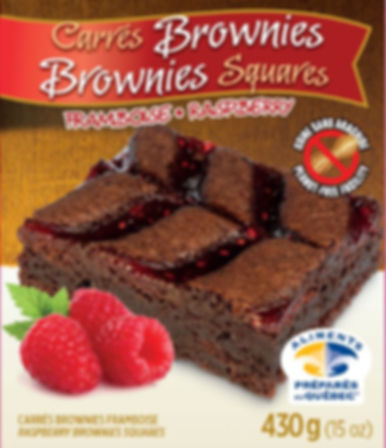 Brownies FramboisesLa Maison Crowin
