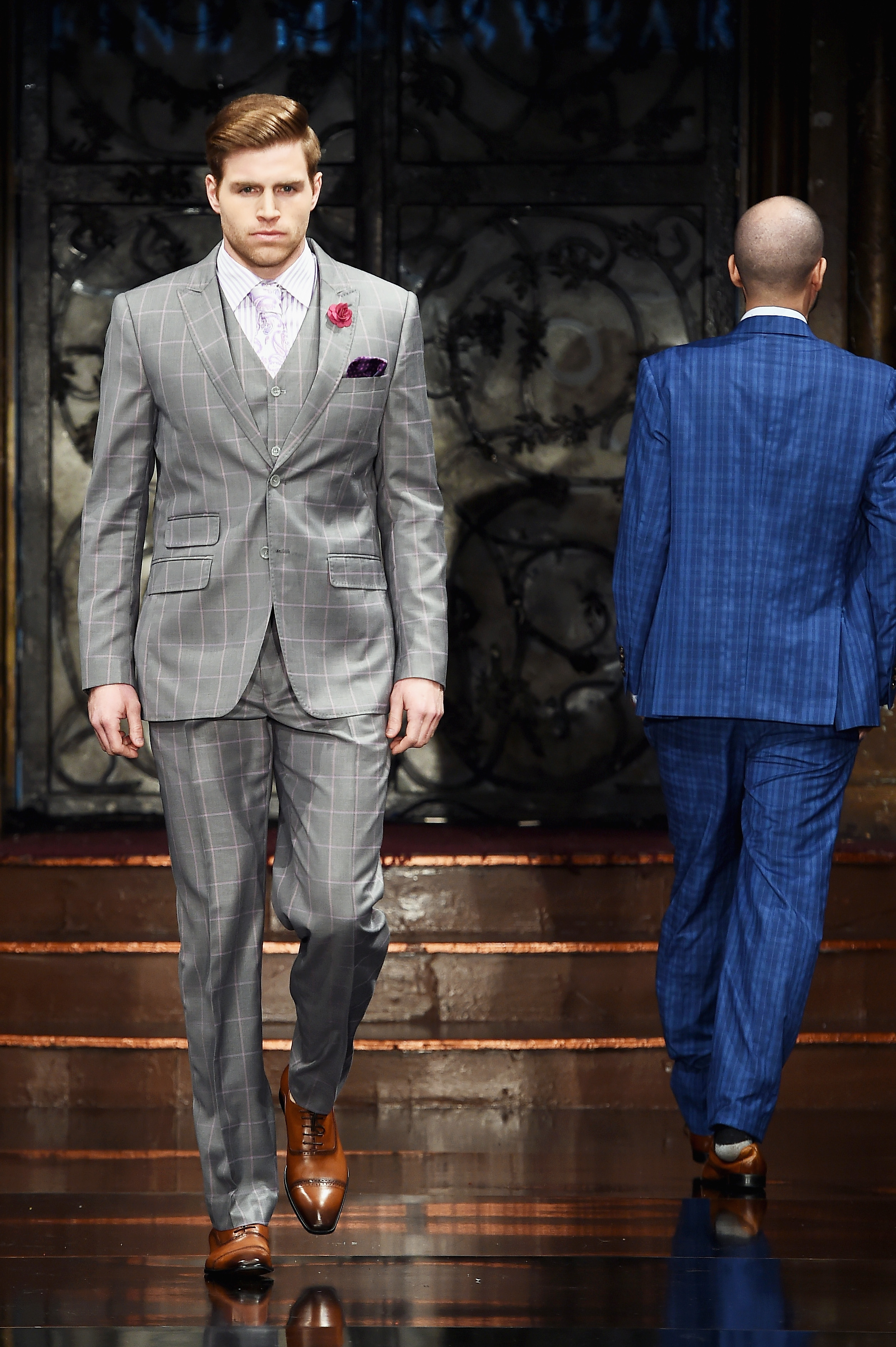 Purple Pane Suit Getty Images