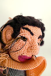Sculptural crochet portraits