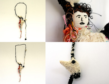 Neta Amir, Threads, Lady and birds.jpg