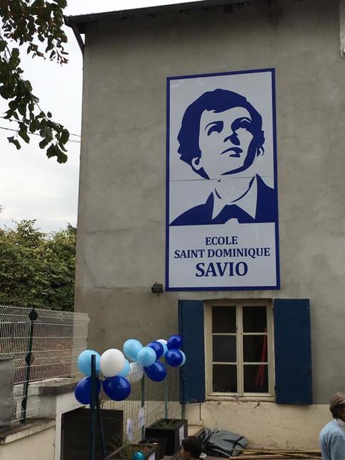 A l'occasion de ces 40 ans l'école se dote d'un nouveau panneau.