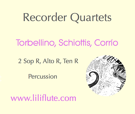 Recorder Quartets  (three original pieces)