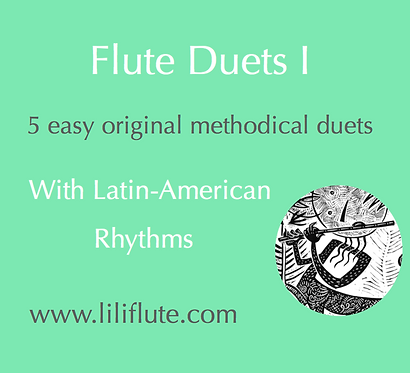 Flute Duets I - 5 easy original methodical duets