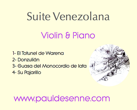 Suite Venezolana - Violin & Piano