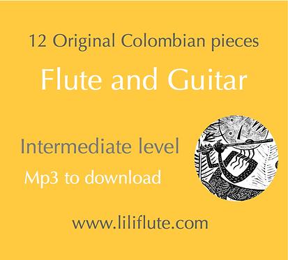 12 Original Colombian pieces for Flute & Guitar