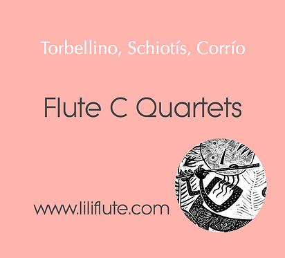 Flute C Quartets - Three original pieces - Beginners