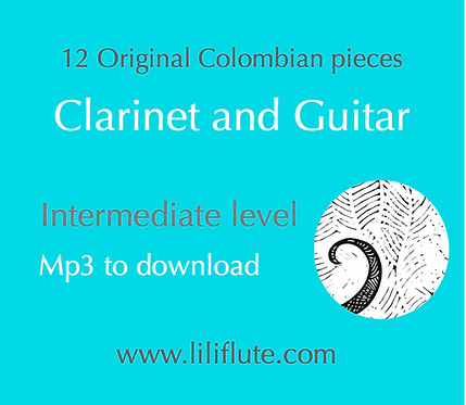 12 Original Colombian pieces for Clarinet and Guitar