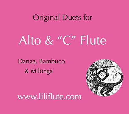 Original duets for Alto & Soprano flutes